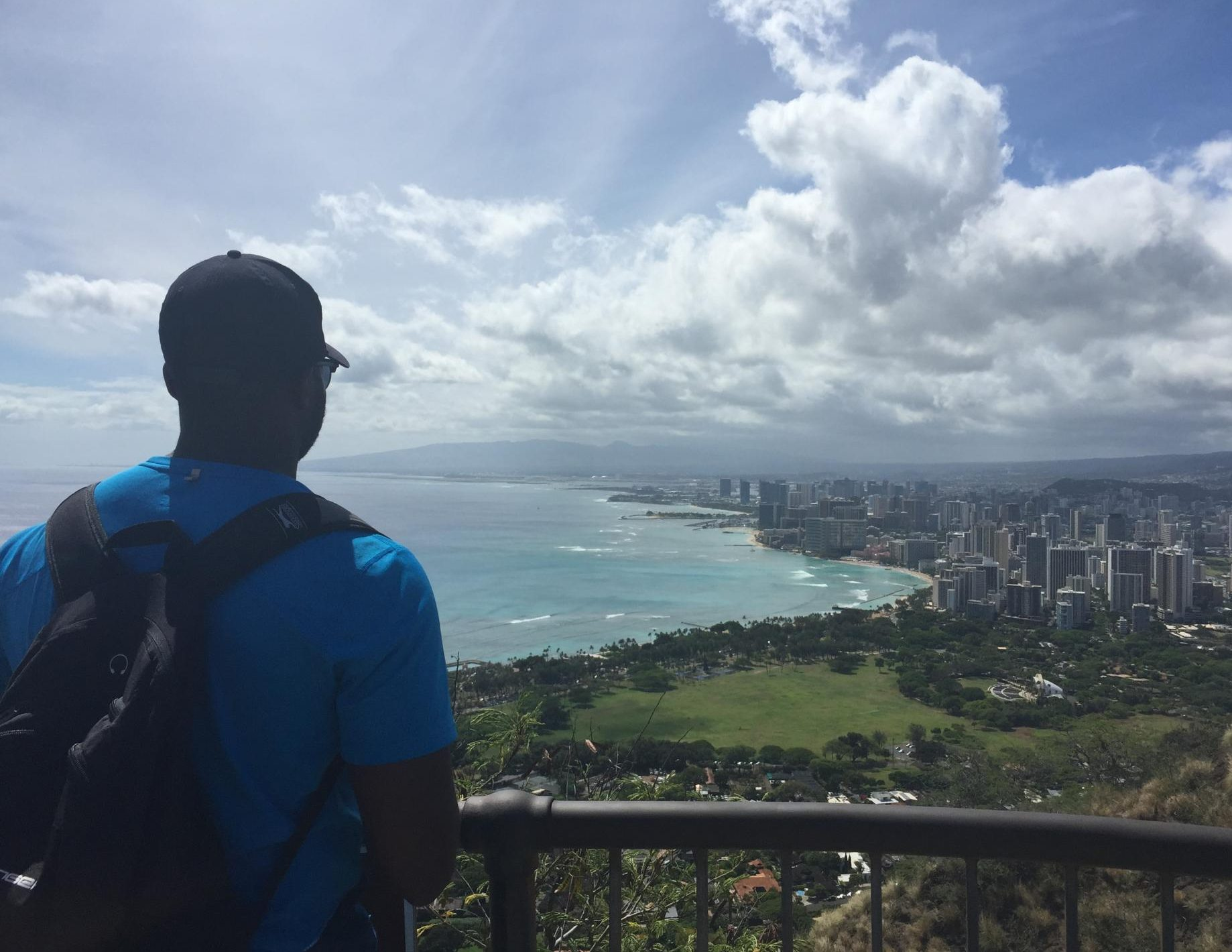 Looking out over O'ahu