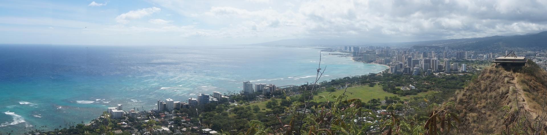 Diamond Head State Monument views, O'ahu - June 2017