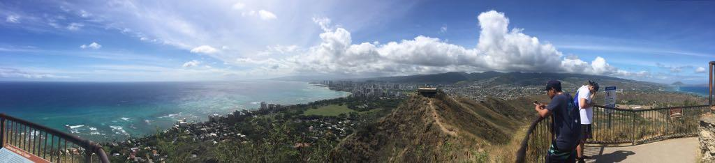 Diamond Head State Monument and some other budding photographers, O'ahu - June 2017