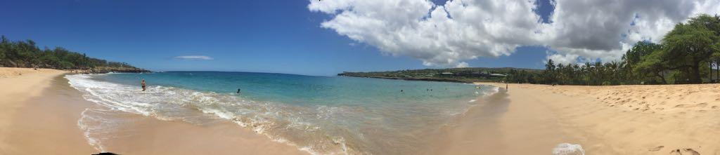 Hulopo'e Beach Park on the Island of Lanai, Hawaii - May 2017