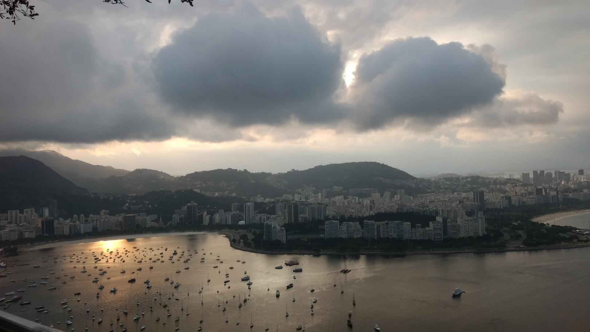 Looking out over the Sailing at the Rio 2016 Olympics
