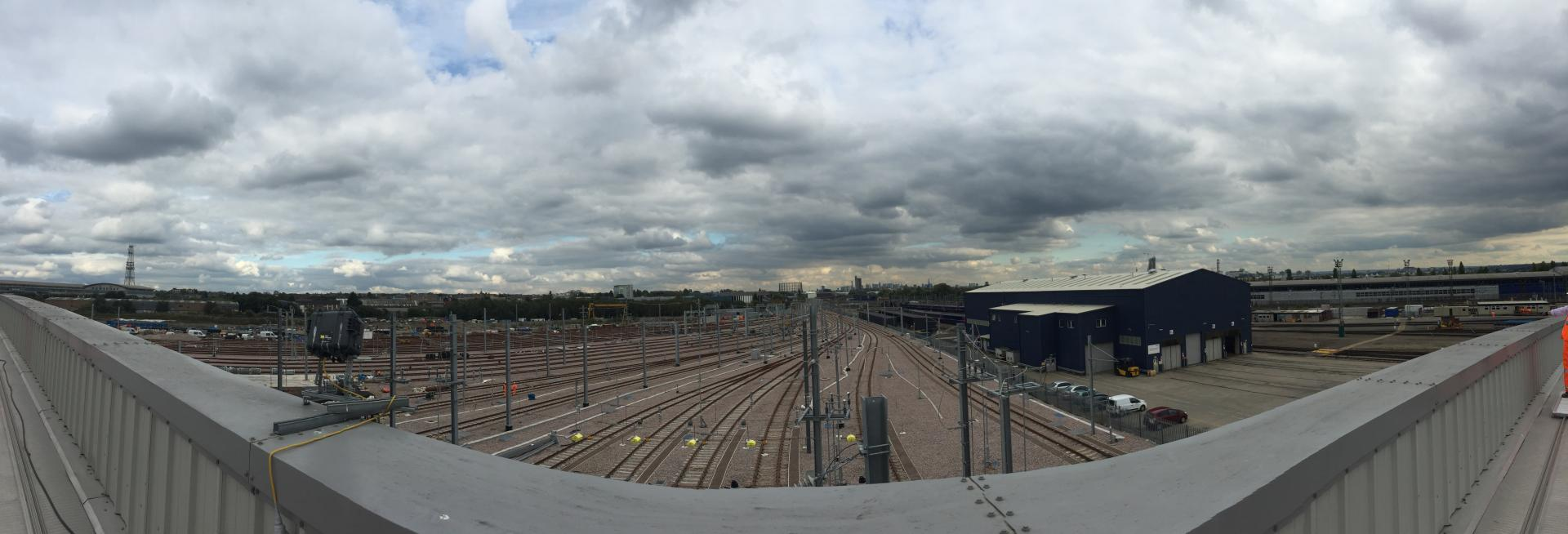 Old Oak Common Depot Rooftop Panorama