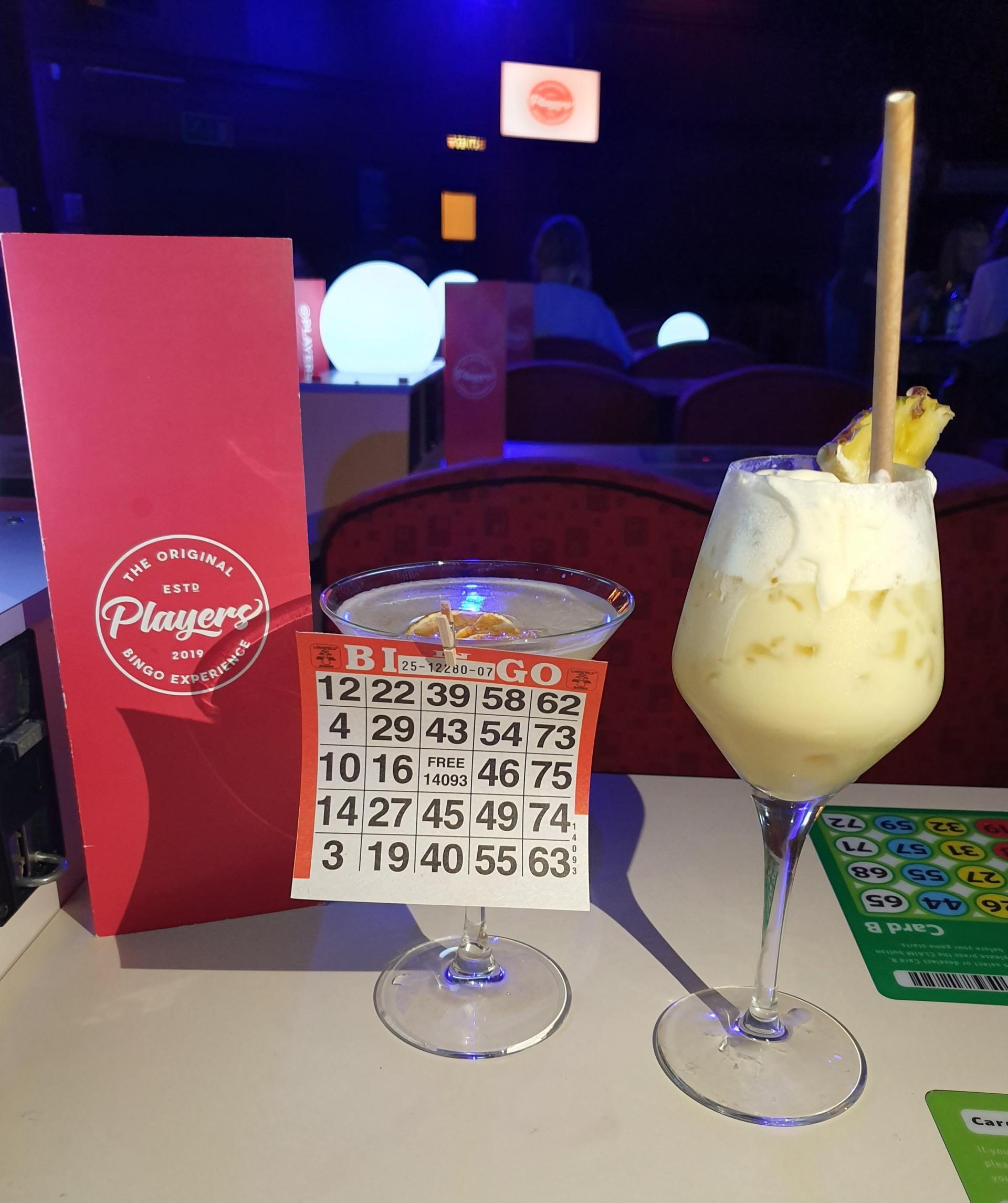 Lucky Lotto cocktail with a virgin Pina Colada